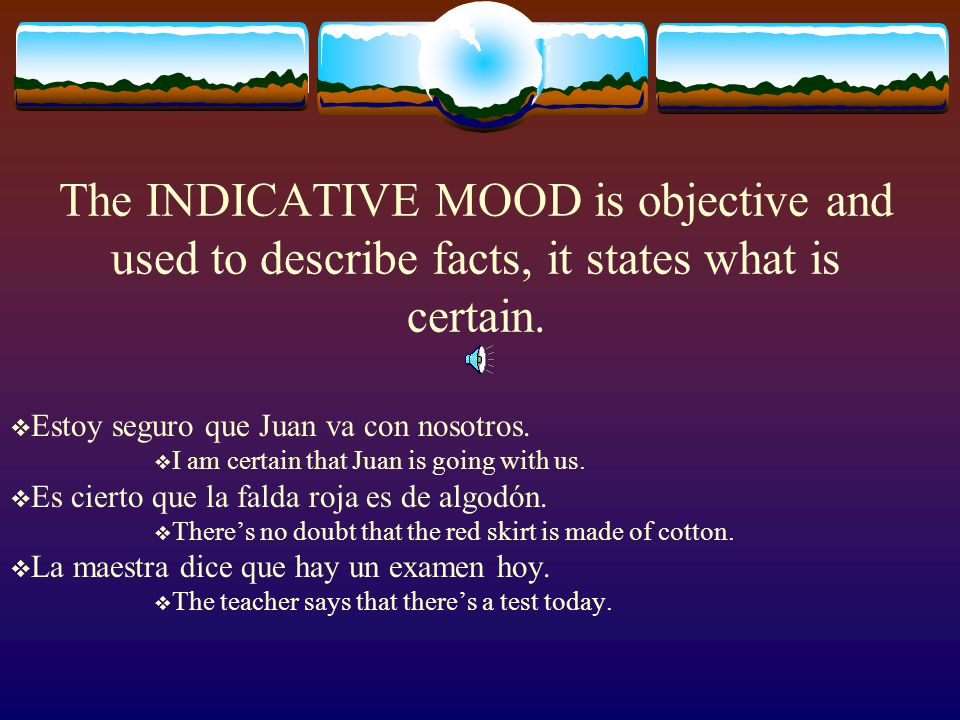 Both the Indicative mood and the Subjunctive mood are used in compound sentences which are connected by que.  La gente sabe que la verdad es la mejor