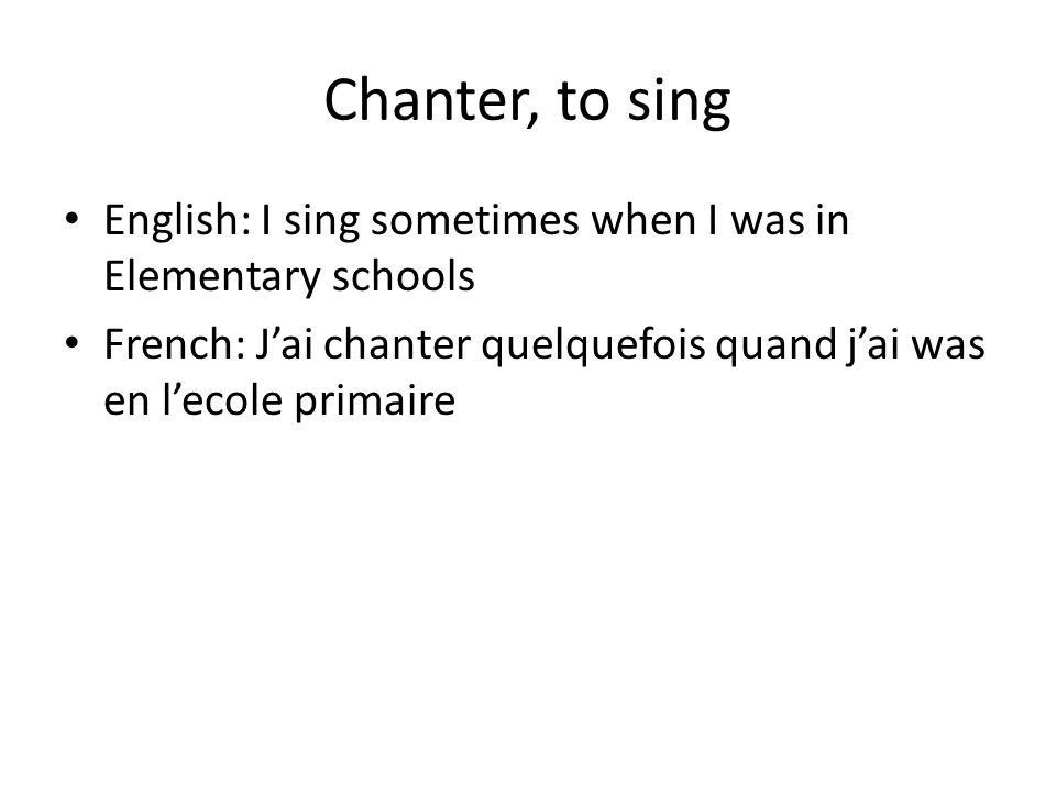 Regarder, to watch English: French: