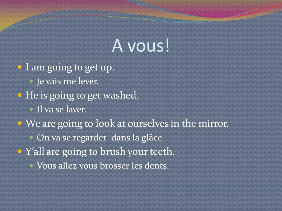 Futur Proche - Négatif Step one: Figure out your subject Je, tu, il, elle, on, nous, vous, ils, elles Step two: Conjugate aller to match your subject Vais, vas, va, va, va, allons, allez, vont, vont Step three: add ne pas around aller.
