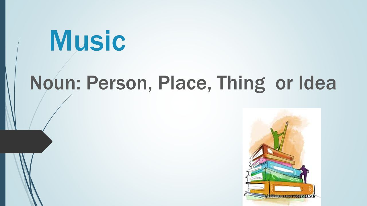Music Noun: Person, Place, Thing or Idea