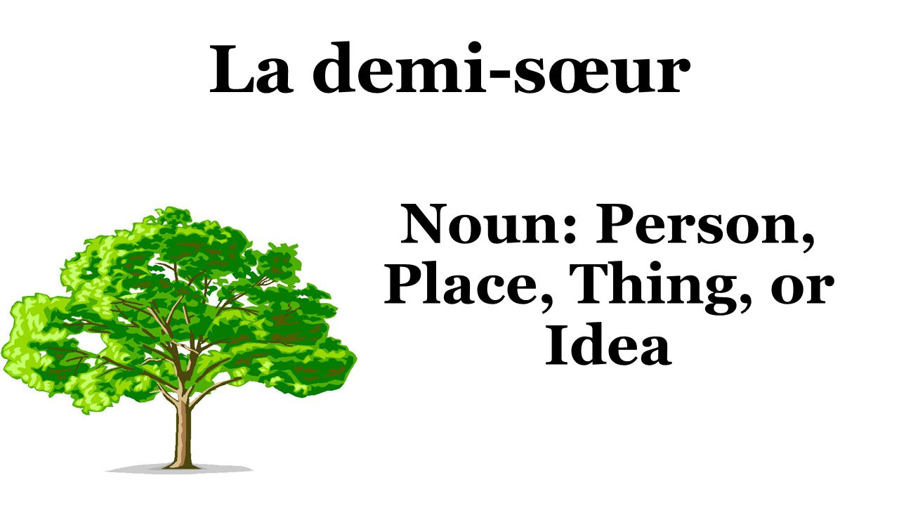 La demi-sœur Noun: Person, Place, Thing, or Idea