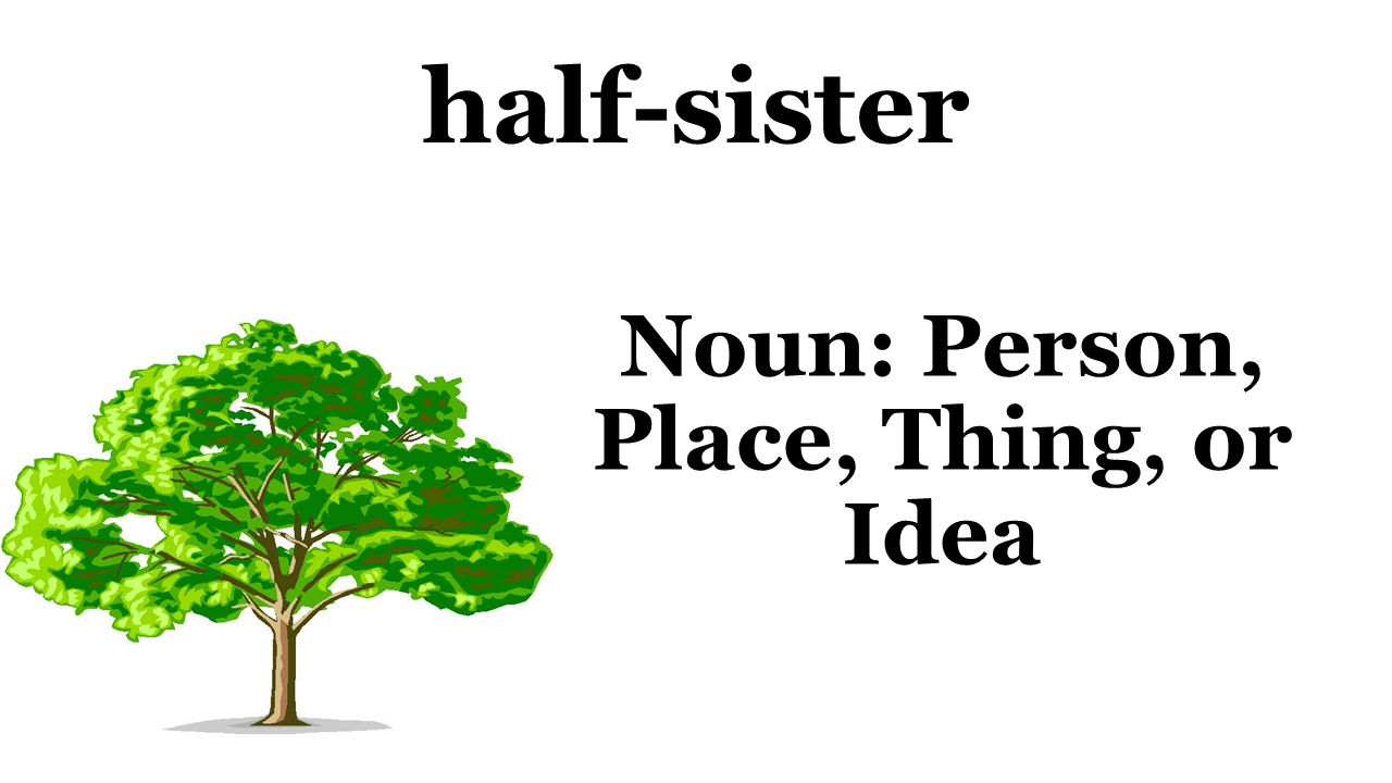 half-sister Noun: Person, Place, Thing, or Idea