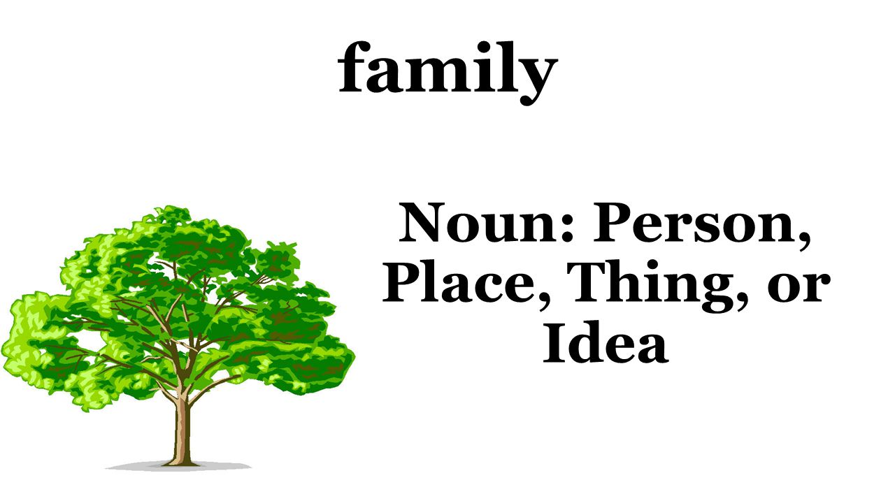 family Noun: Person, Place, Thing, or Idea