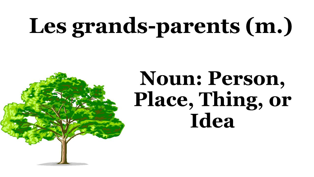 Les grands-parents (m.) Noun: Person, Place, Thing, or Idea