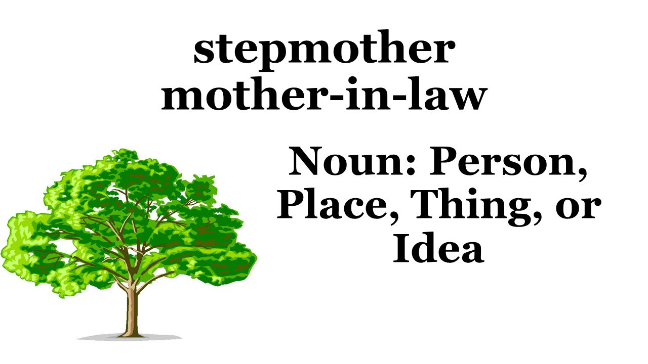 stepmother mother-in-law Noun: Person, Place, Thing, or Idea
