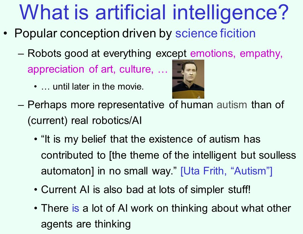 What is artificial intelligence.