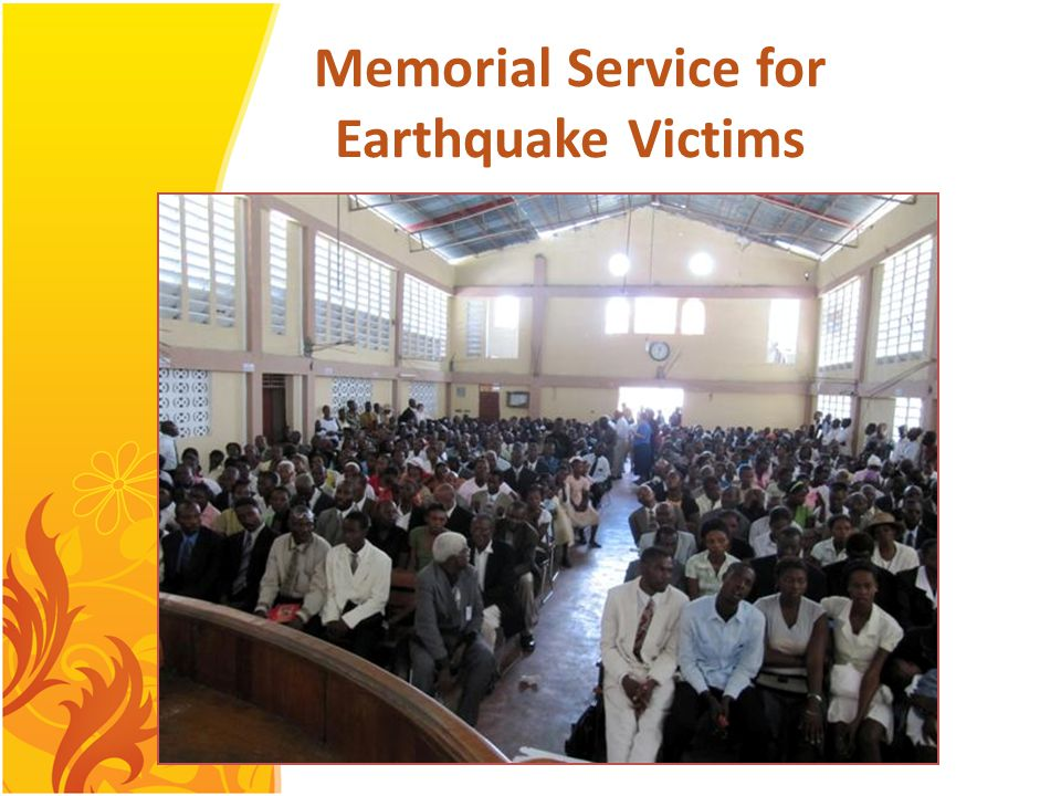 Memorial Service for Earthquake Victims