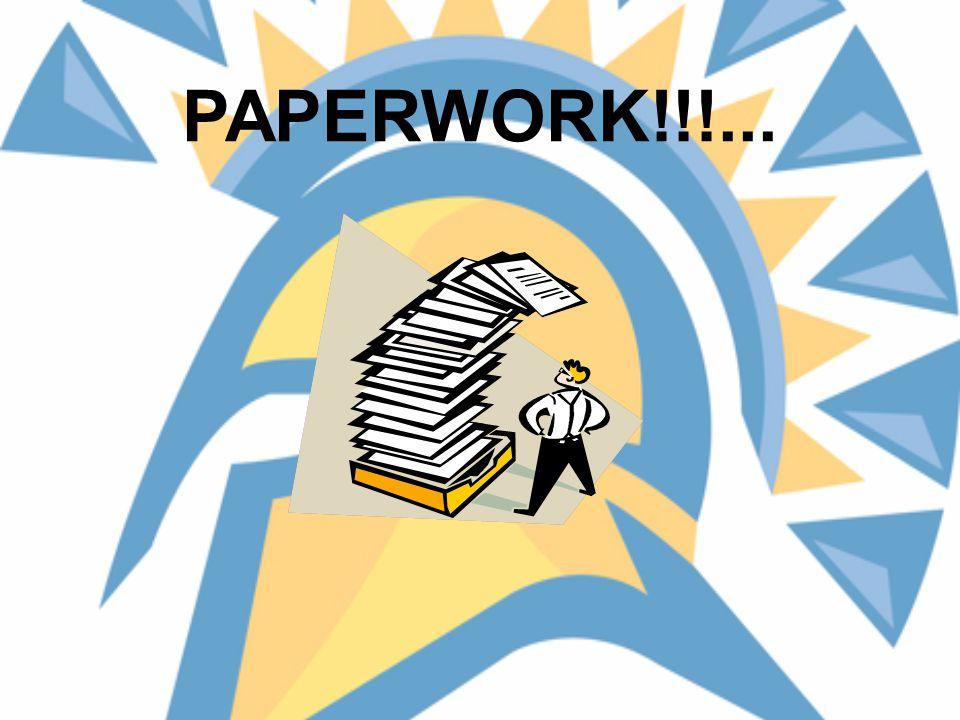 PAPERWORK!!!...
