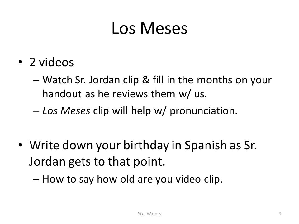 Los Meses 2 videos – Watch Sr.