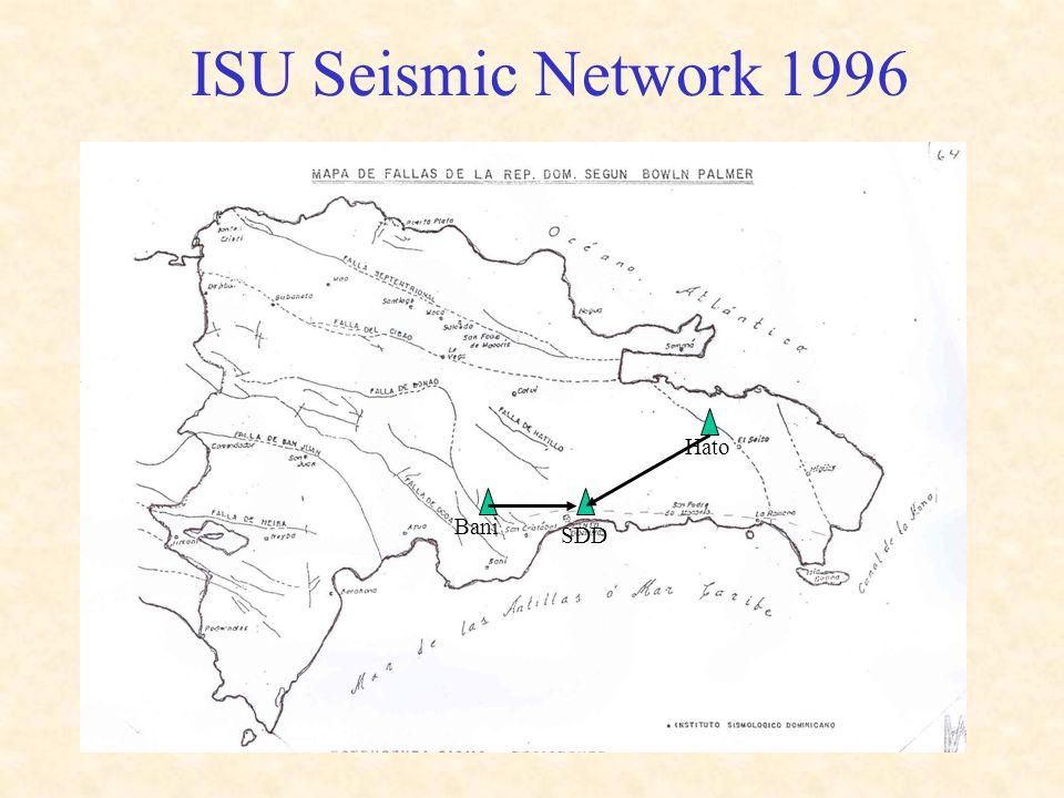 ISU Seismic Network 1996 Bani SDD Hato