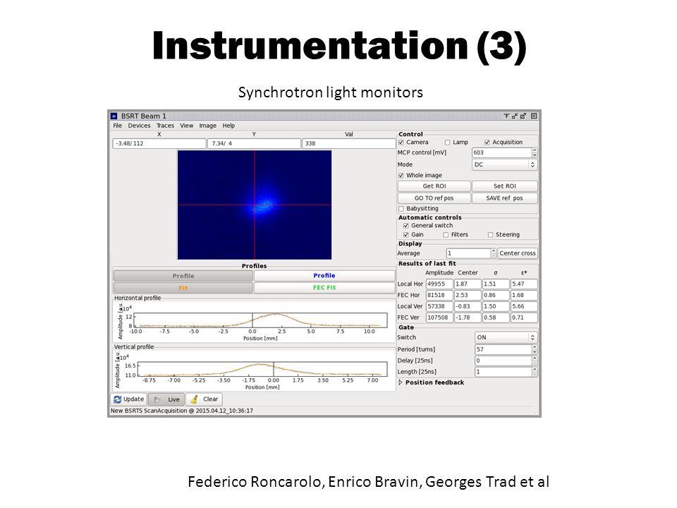 Instrumentation (3) Federico Roncarolo, Enrico Bravin, Georges Trad et al Synchrotron light monitors