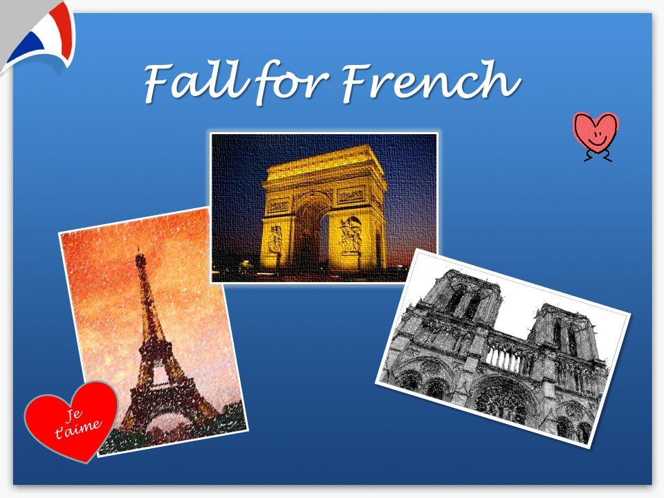 Fall for French Je t'aime