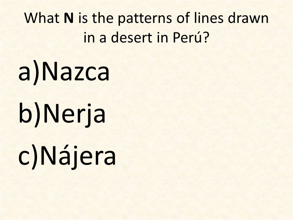 Name a city or town in a Spanish-speaking country for these letters: LMLM