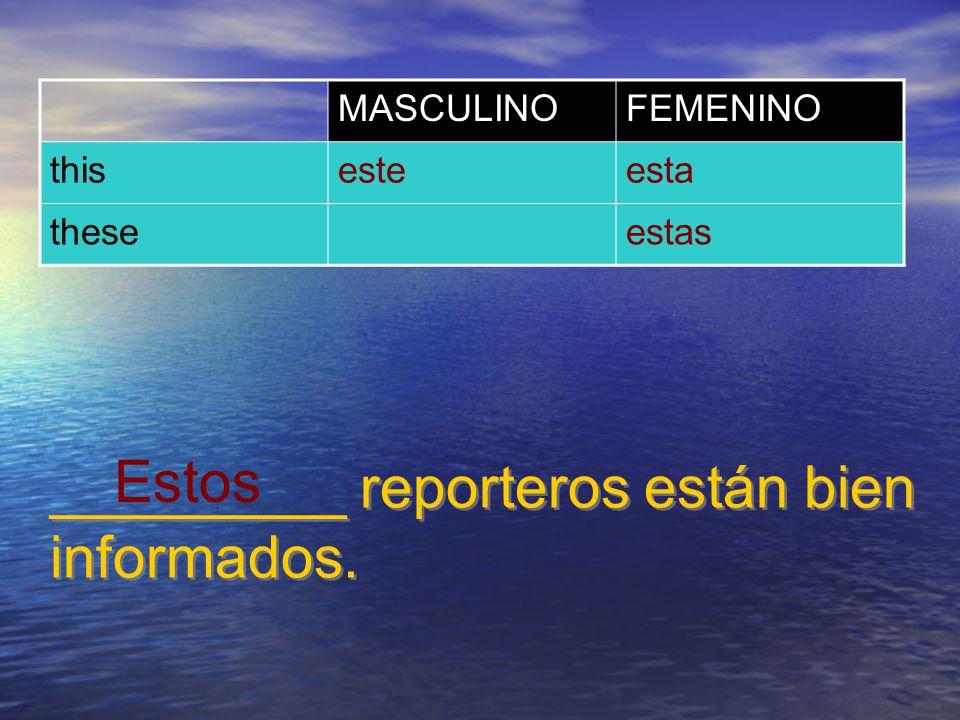 ¿De quién es __________ cámara? MASCULINOFEMENINO that (near)eseesa those (near)esosesas