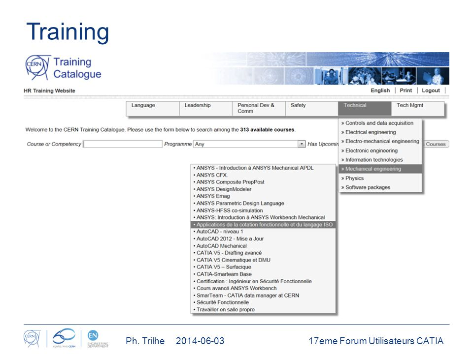Training 17eme Forum Utilisateurs CATIAPh. Trilhe 2014-06-03