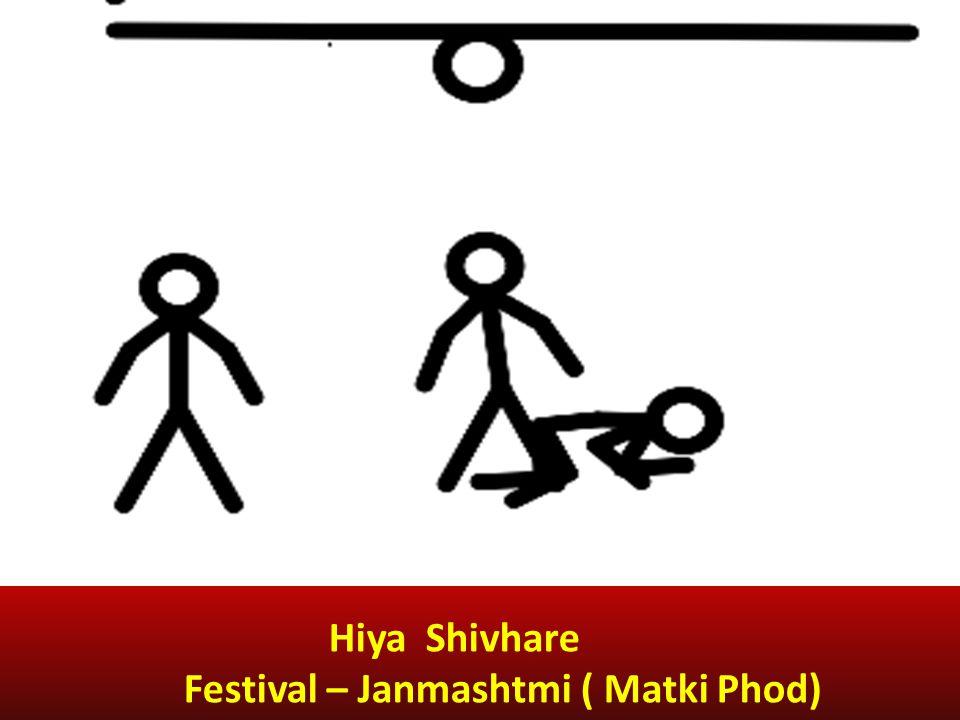 Hiya Shivhare Festival – Janmashtmi ( Matki Phod)