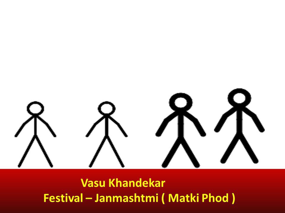 Vasu Khandekar Festival – Janmashtmi ( Matki Phod )