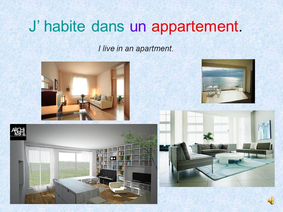 J' habite dans un immeuble locatif. I live in a block of rented flats.