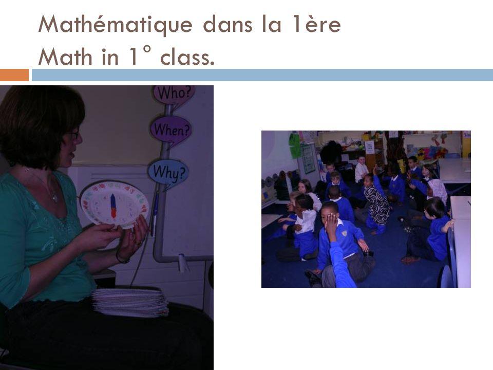 Mathématique dans la 1ère Math in 1° class.