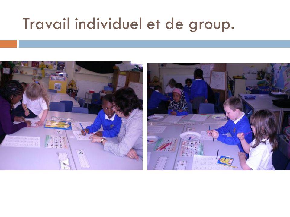 Travail individuel et de group.