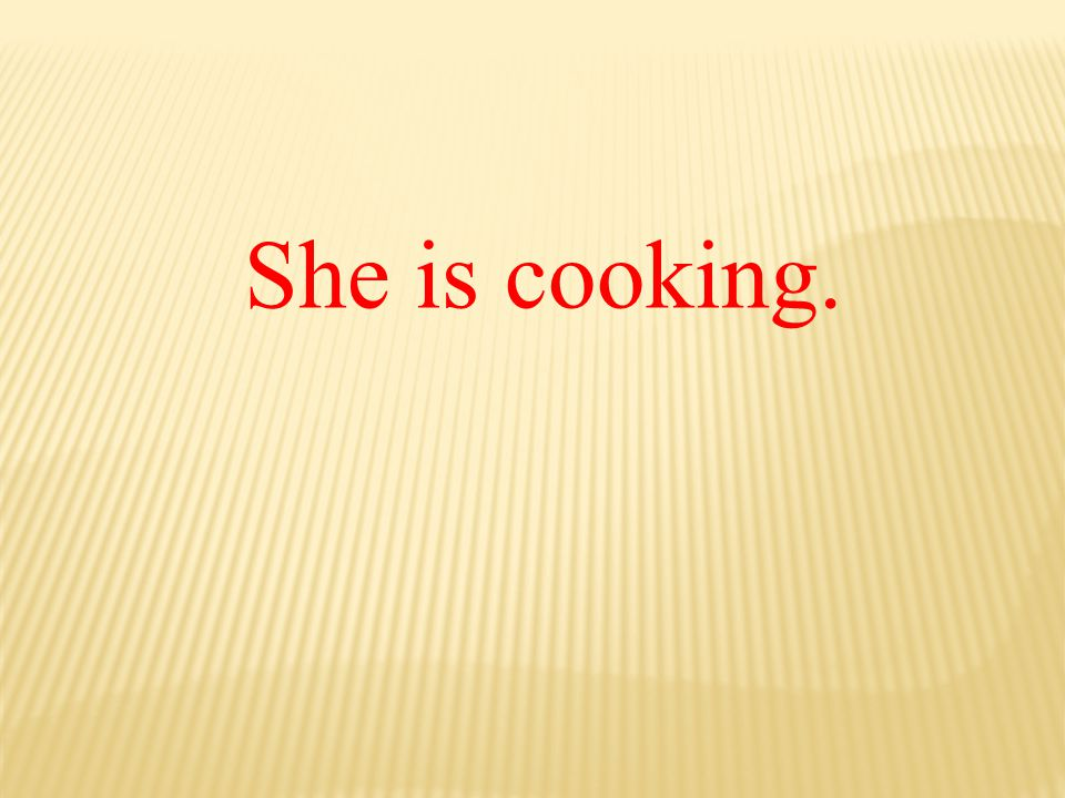She is cooking.