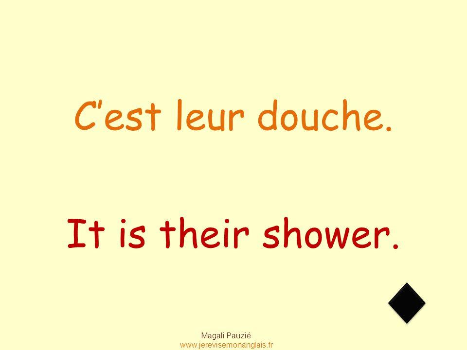 Magali Pauzié www.jerevisemonanglais.fr It is their shower. C'est leur douche.