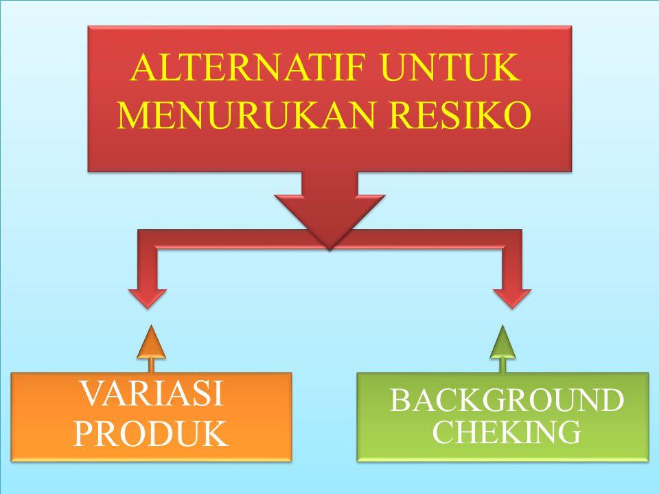 VARIASI PRODUK 1.Memecah risiko yang ditanggung kepada nasabah yaitu dengan melakukan : Without recourse factoring With recourse factoring 2.