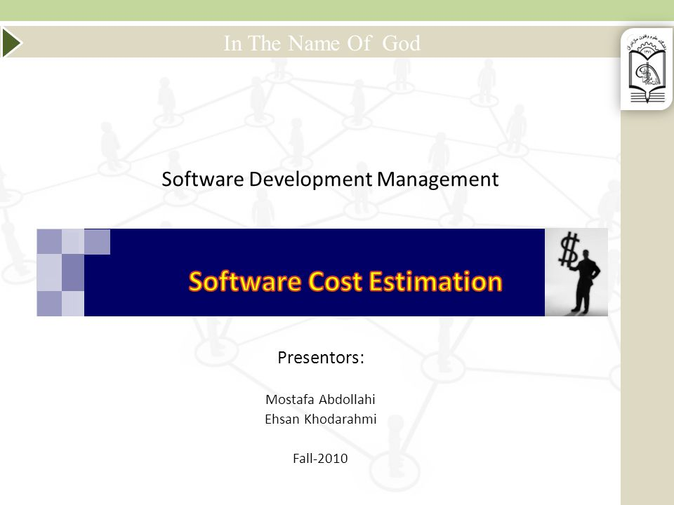 Mazandaran University of Science & Technology SDM-Software Cost Estimation Use of mathematical equations to perform software estimation Equations are based on theory or historical data Use input such as SLOC, number of functions to perform and other cost drivers 12 Algorithmic (Parametric) Model