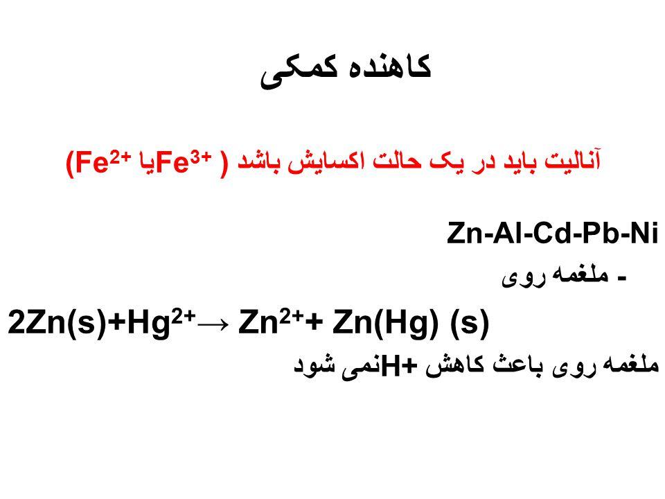 تیتراسیونهای Redox - کالریمتری - واکنشهای معمولی (با استفاده از معرف) - پتانسیومتری - واکنشهای الکتروشیمی(با استفاده از پتانسیومتر)