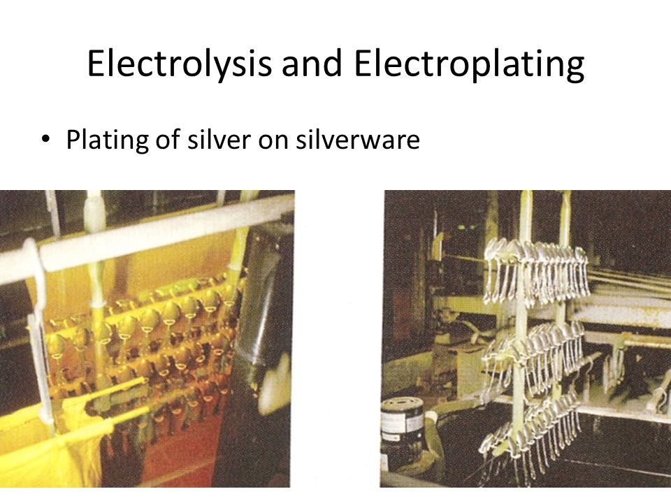 Electrolysis and Electroplating Plating of silver on silverware