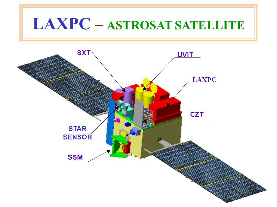 2 LAXPC – ASTROSAT SATELLITE LAXPC UVIT SSM CZT SXT STAR SENSOR