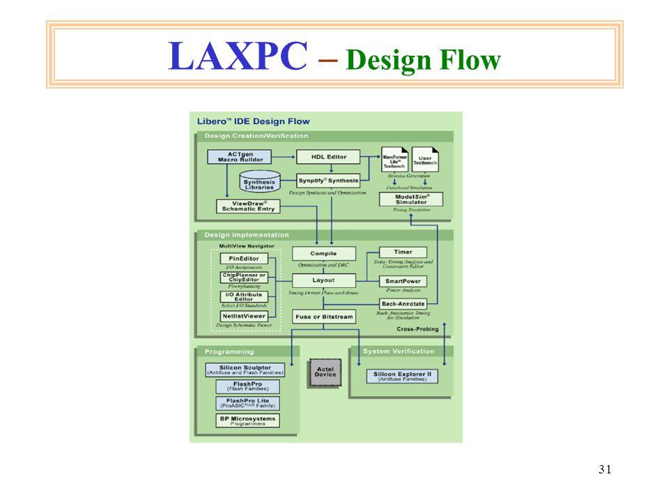 31 LAXPC – Design Flow