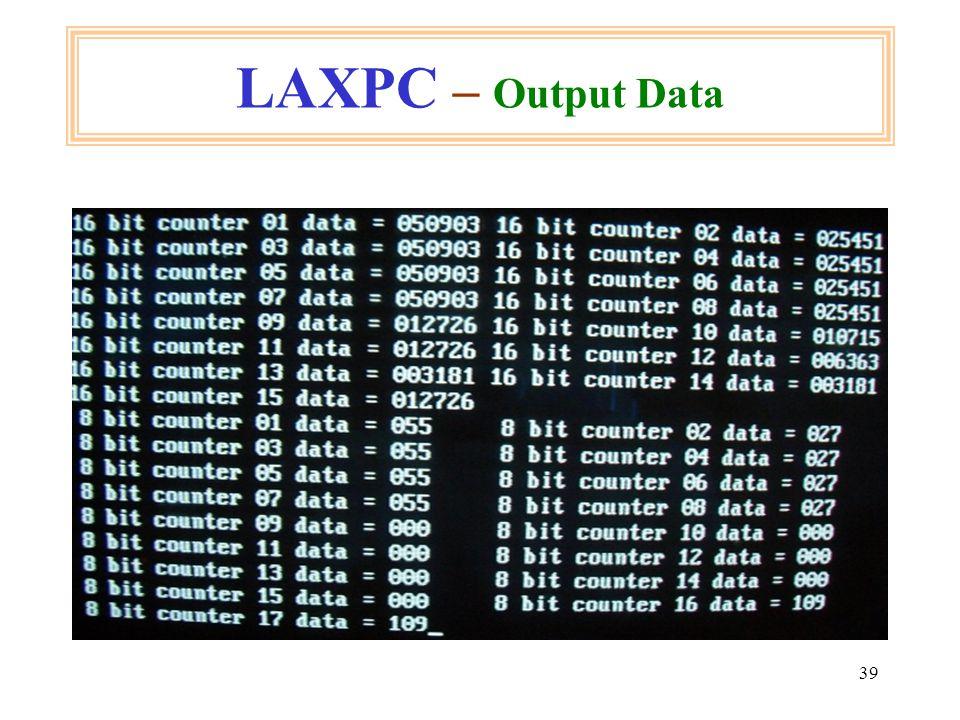 39 LAXPC – Output Data