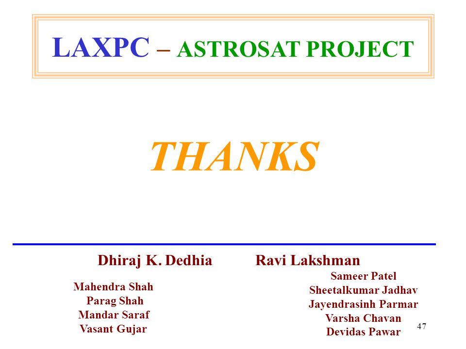 47 THANKS Mahendra Shah Parag Shah Mandar Saraf Vasant Gujar Sameer Patel Sheetalkumar Jadhav Jayendrasinh Parmar Varsha Chavan Devidas Pawar Dhiraj K