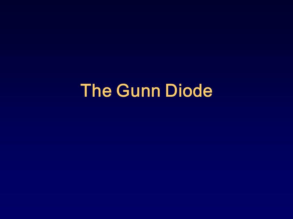 Contents Overview of The Gunn Diode Gunn Effect Two-Valley Model Theory Gunn-Oscillation Gunn Oscillation Modes