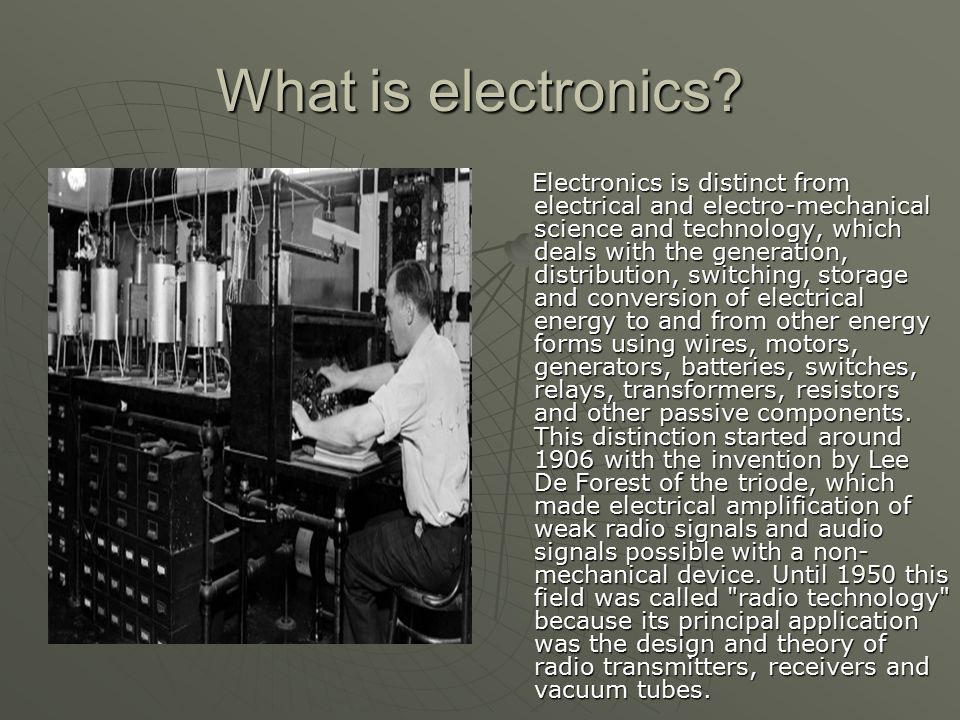 What is electronics.