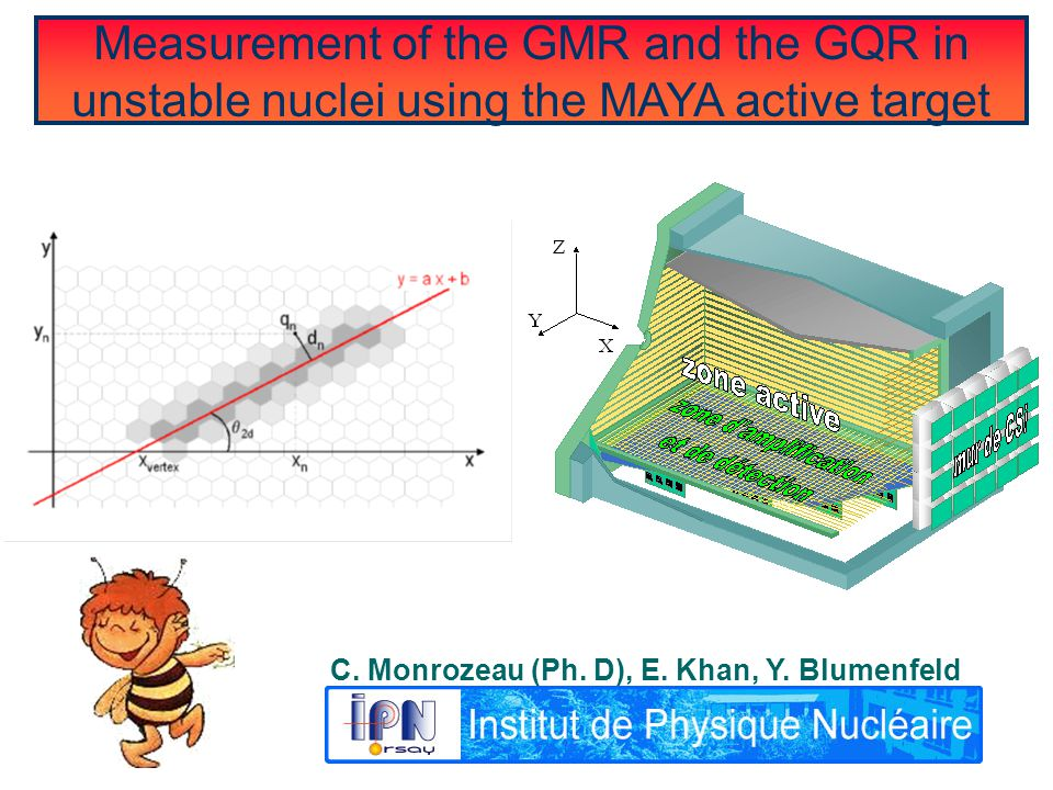 Measurement of the GMR and the GQR in unstable nuclei using the MAYA active target C.