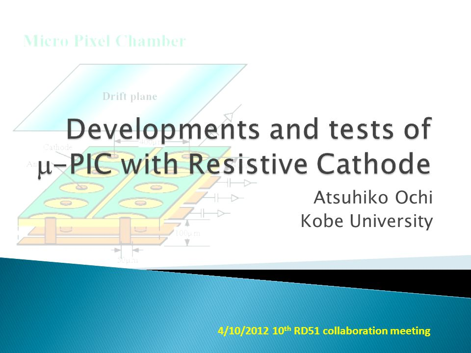Atsuhiko Ochi Kobe University 4/10/2012 10 th RD51 collaboration meeting