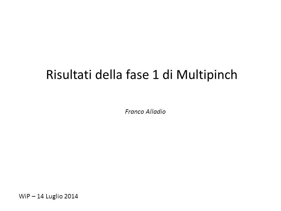 Risultati della fase 1 di Multipinch Franco Alladio WiP – 14 Luglio 2014