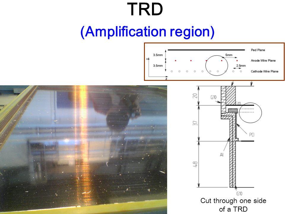 Cut through one side of a TRD TRD (Amplification region)