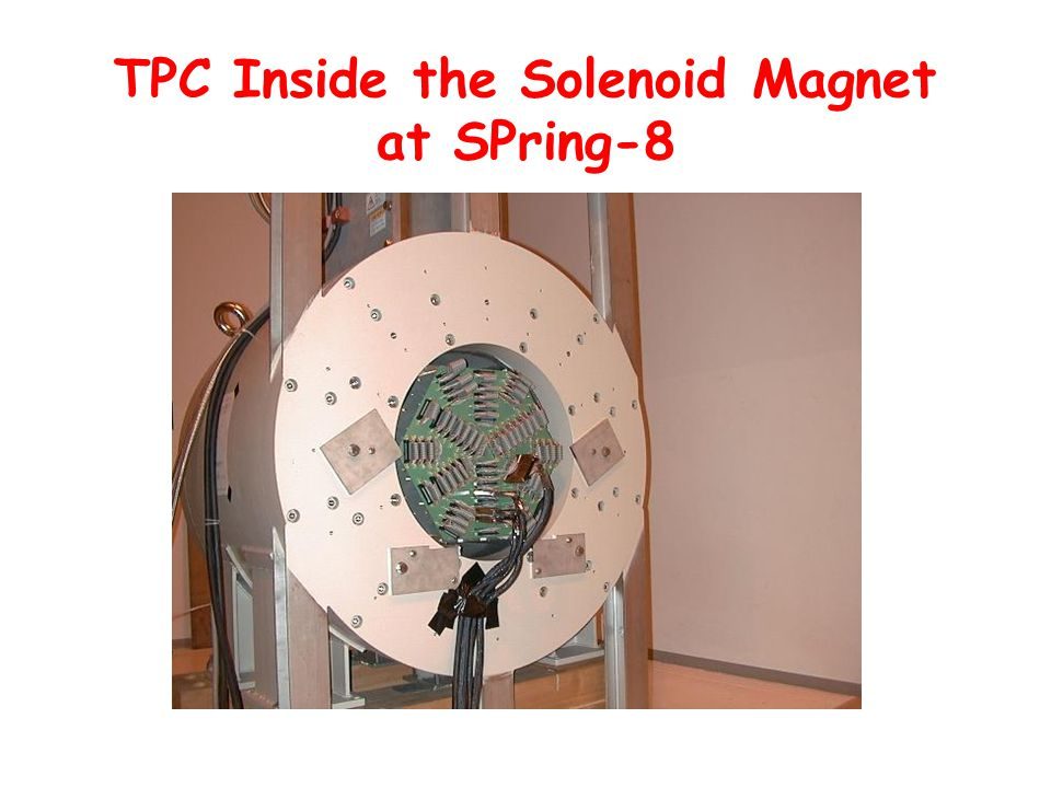 TPC Inside the Solenoid Magnet at SPring-8