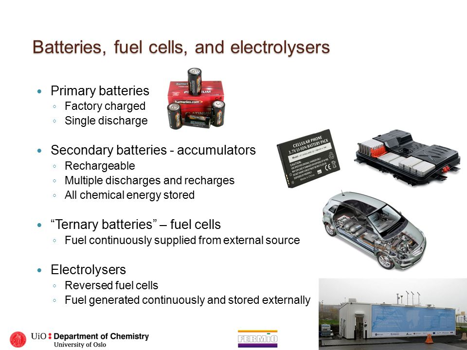 Primary battery Example: Dry cell /Alkaline battery.