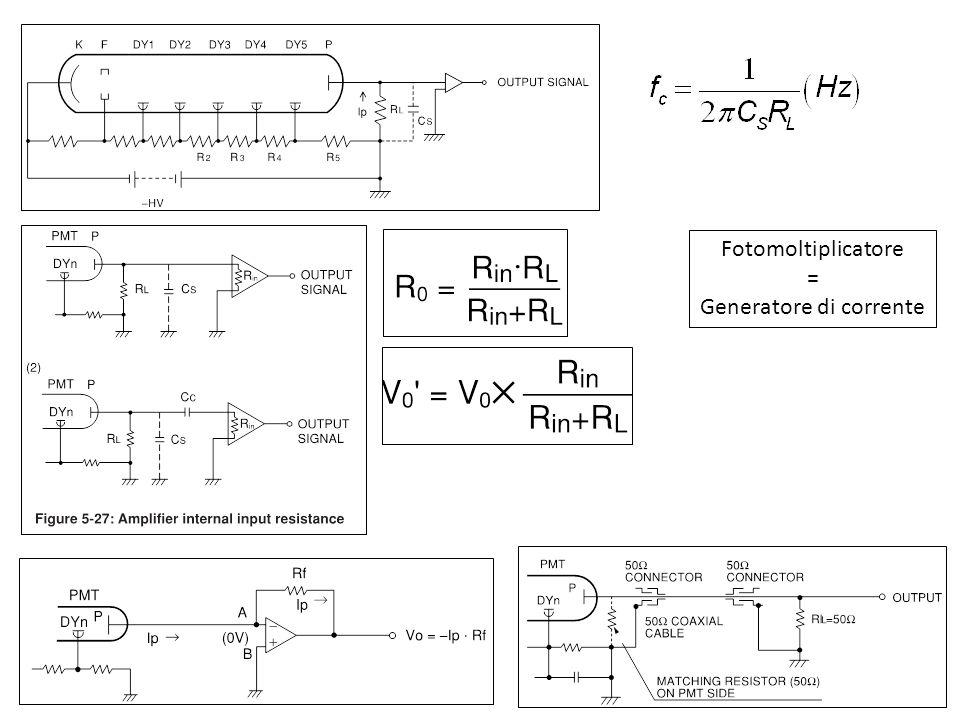 Fotomoltiplicatore = Generatore di corrente