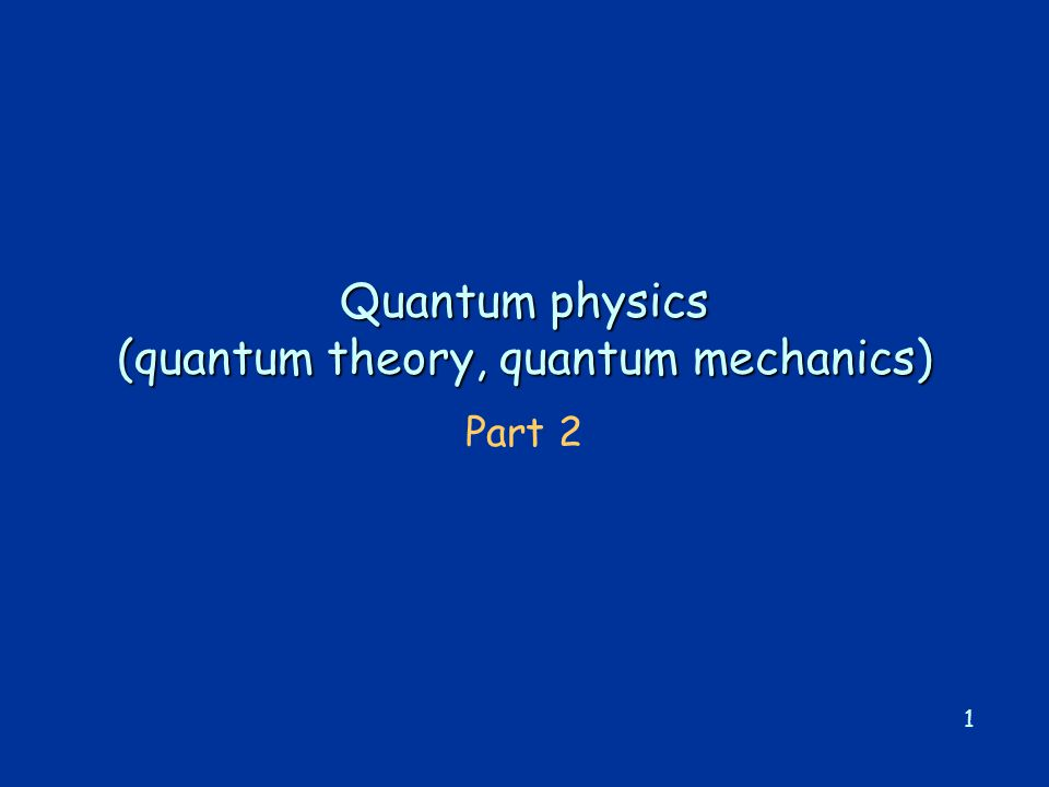 2 Summary of 1 st lecture  classical physics explanation of black-body radiation failed (ultraviolet catastrophe)  Planck's ad-hoc assumption of energy quanta of energy E quantum = h, leads to a radiation spectrum which agrees with experiment.