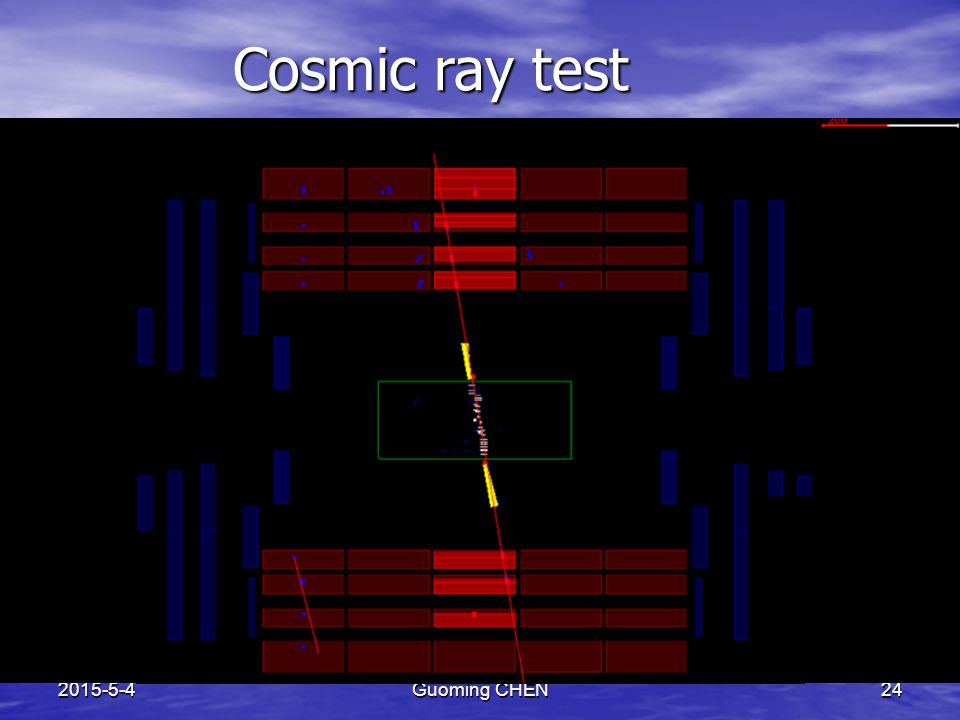 2015-5-4Guoming CHEN24 Cosmic ray test