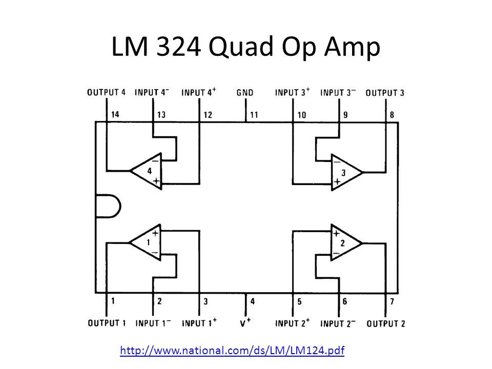 LM 324 Quad Op Amp http://www.national.com/ds/LM/LM124.pdf