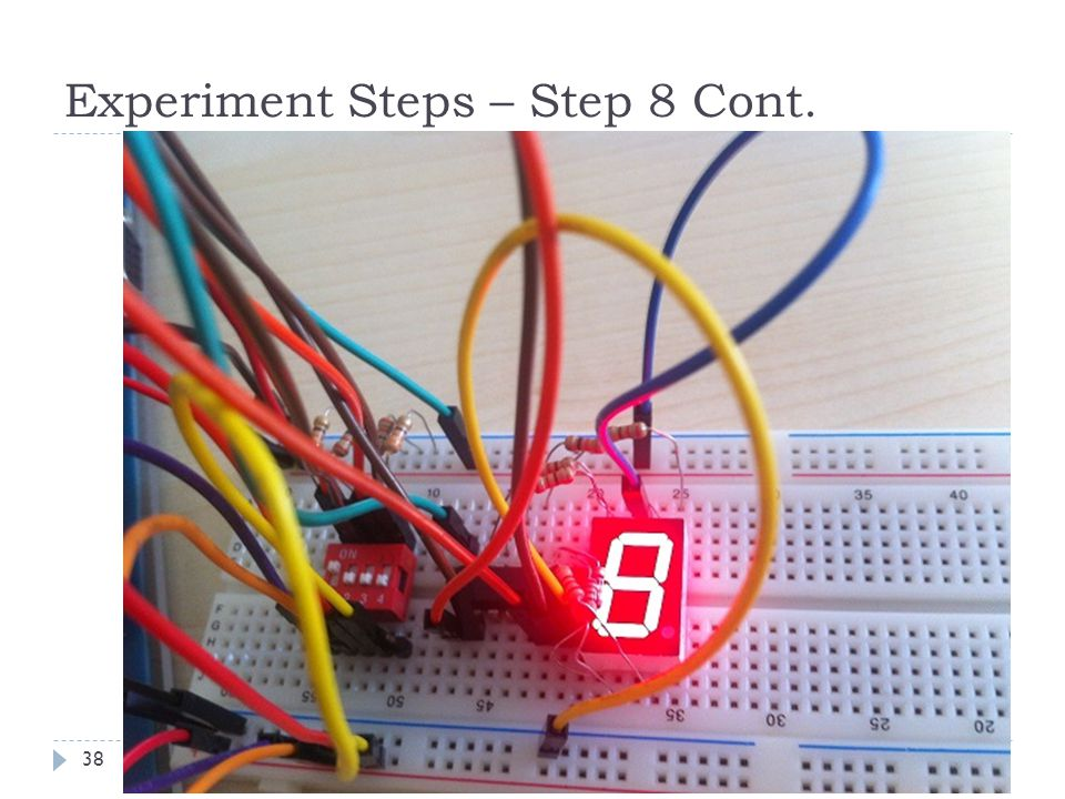 Experiment Steps – Step 8 Cont. 38