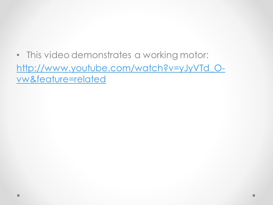 This video demonstrates a working motor: http://www.youtube.com/watch?v=yJyVTd_O- vw&feature=related
