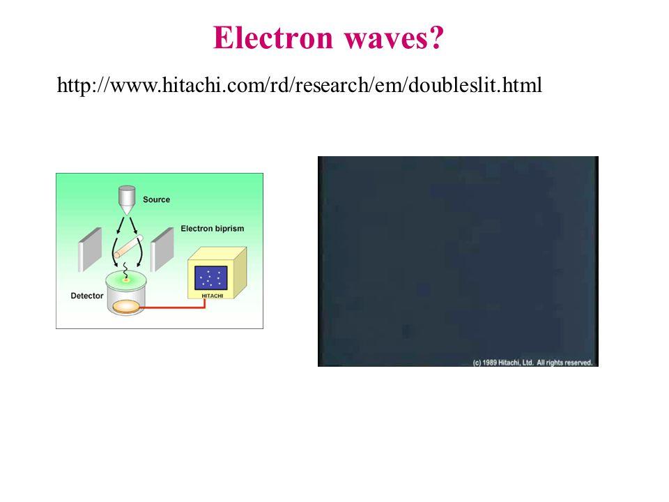 Electron waves http://www.hitachi.com/rd/research/em/doubleslit.html