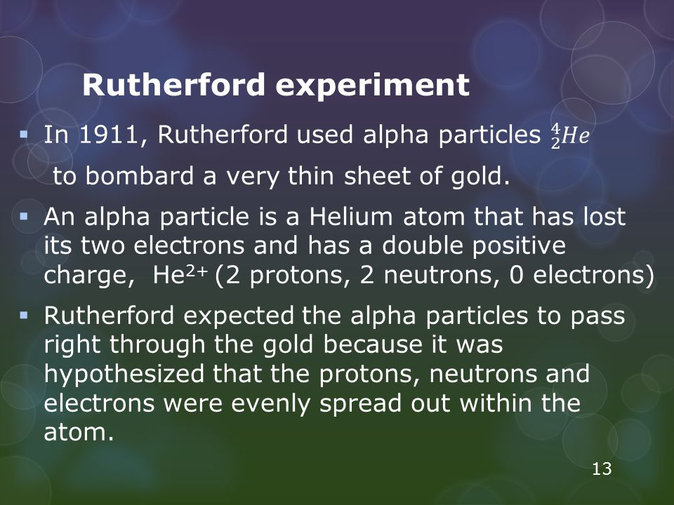 Rutherford experiment 13